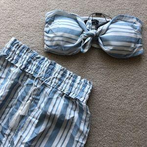 Two piece stripped set